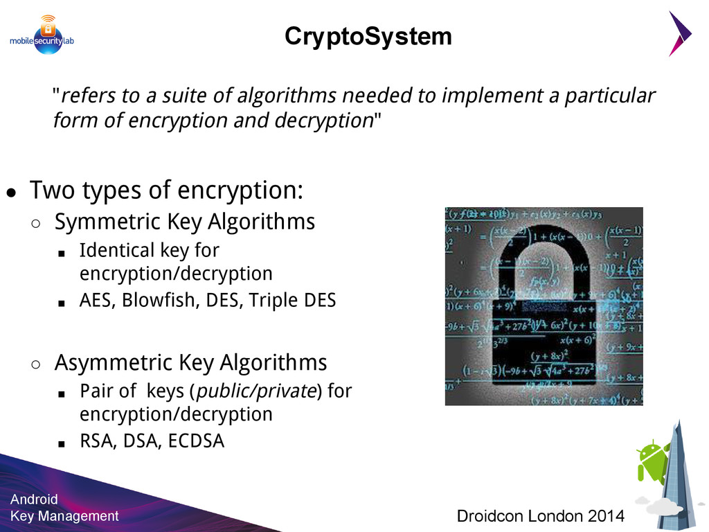 Android Key Management Droidcon London 2014 Cry...