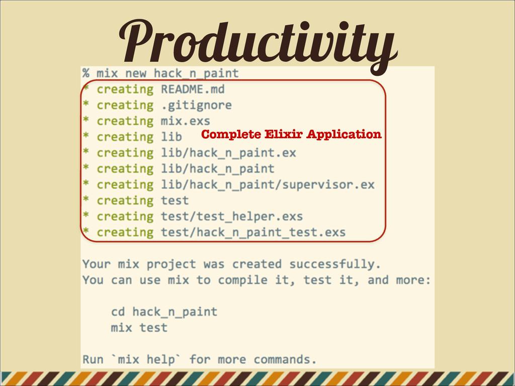 Productivity Complete Elixir Application