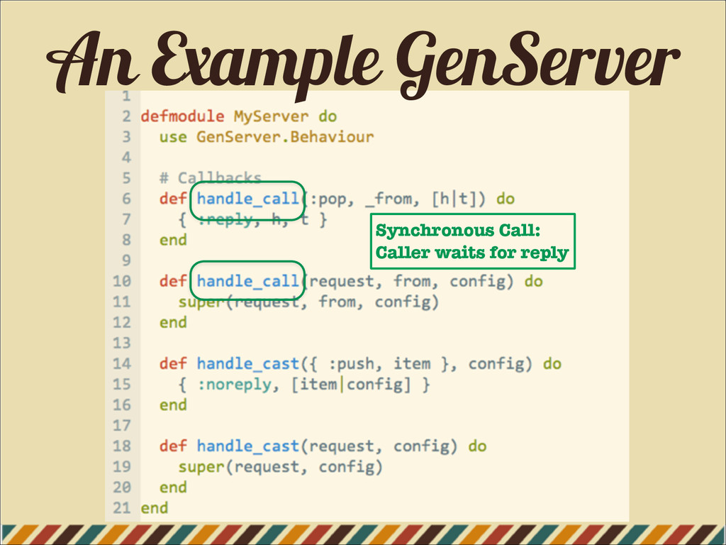 An Example GenServer Synchronous Call: Caller w...