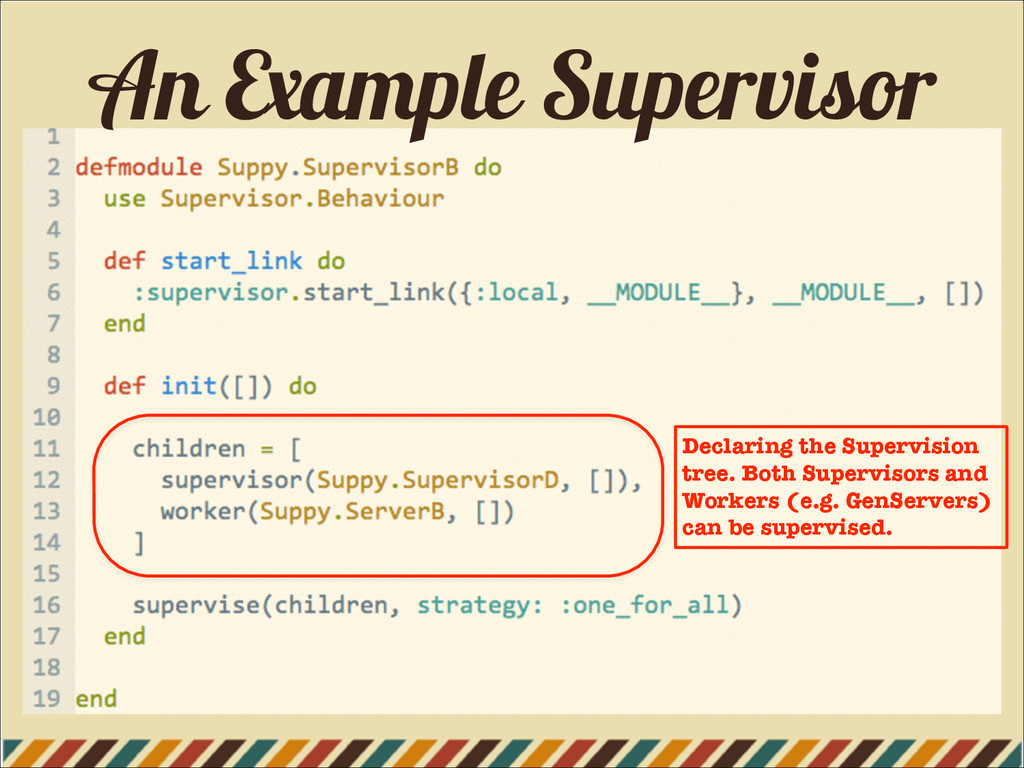 An Example Supervisor Declaring the Supervision...