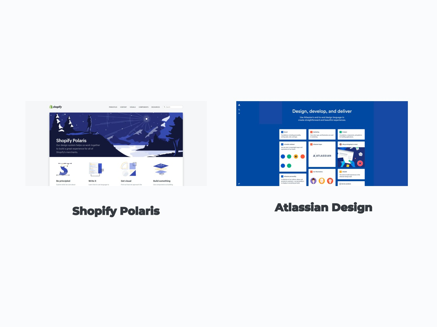 Shopify Polaris Atlassian Design