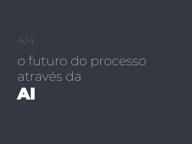 4/4 o futuro do processo através da AI