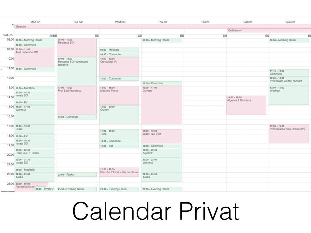 Calendar Privat