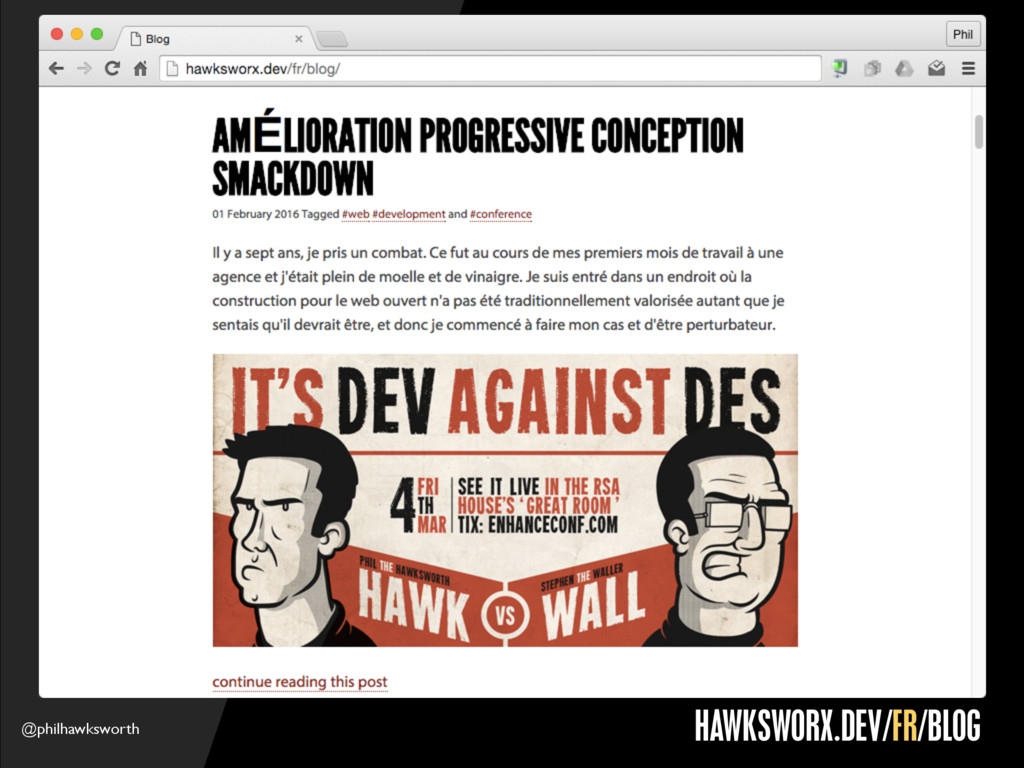 @philhawksworth GOOGLE DOCS HAWKSWORX.DEV/FR/BL...