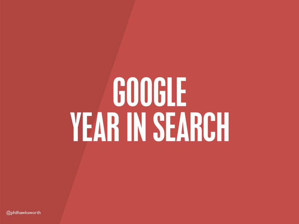 @philhawksworth GOOGLE YEAR IN SEARCH