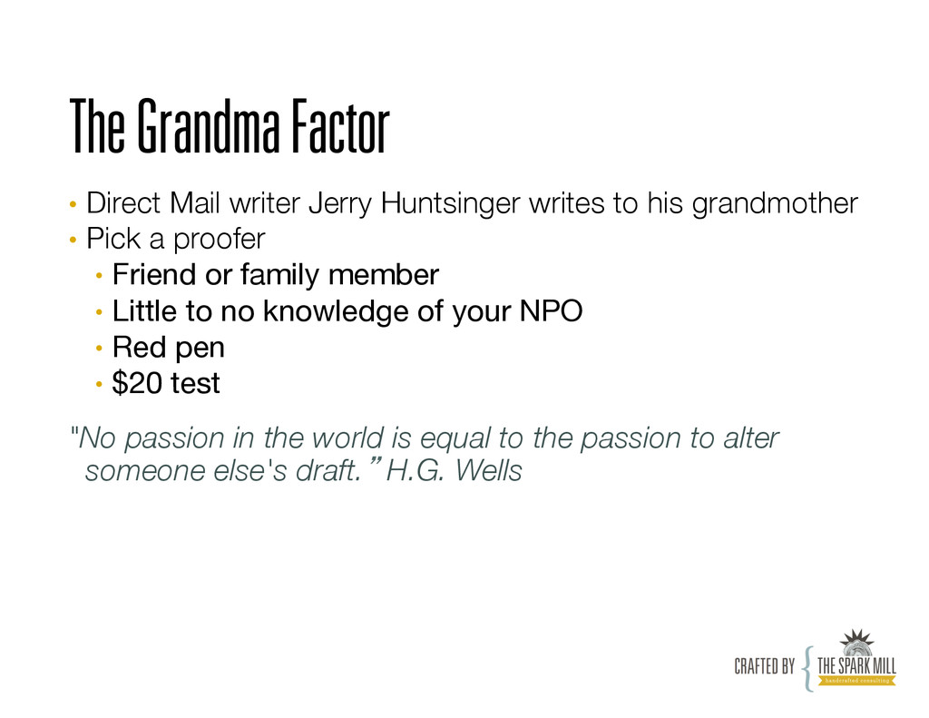 The Grandma Factor • Direct Mail writer Jerry ...