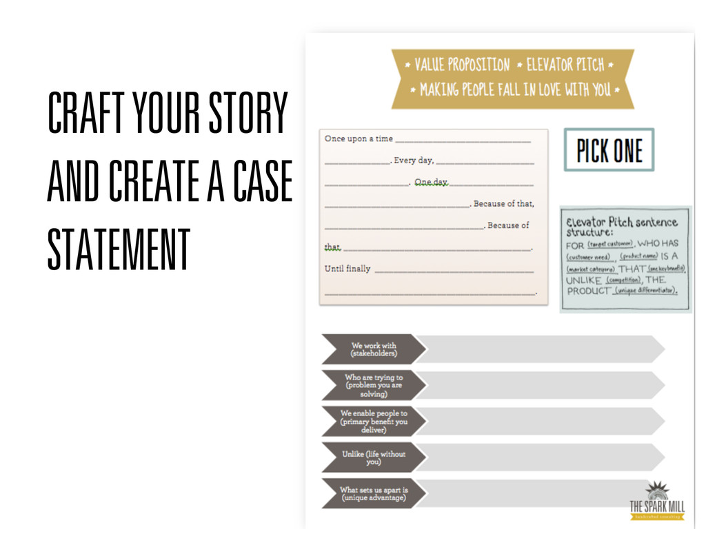 CRAFT YOUR STORY AND CREATE A CASE STATEMENT