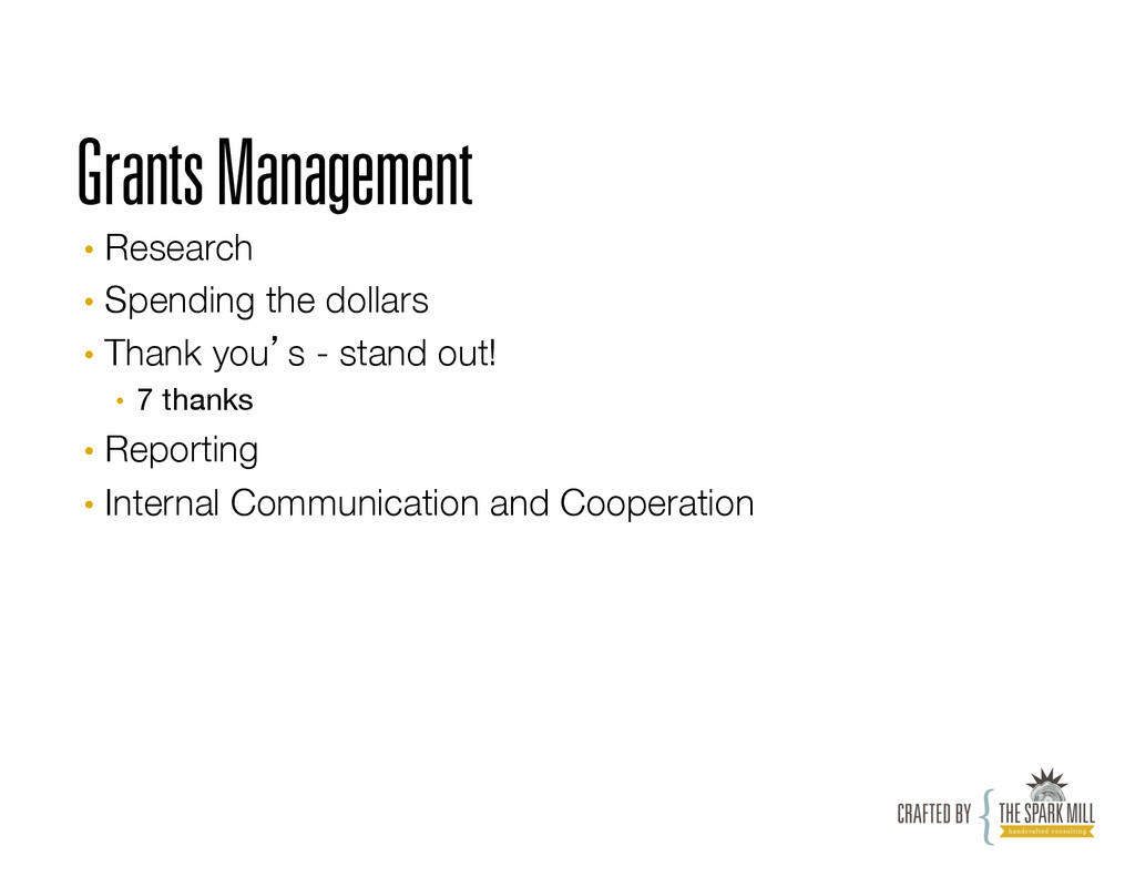 Grants Management • Research • Spending the ...
