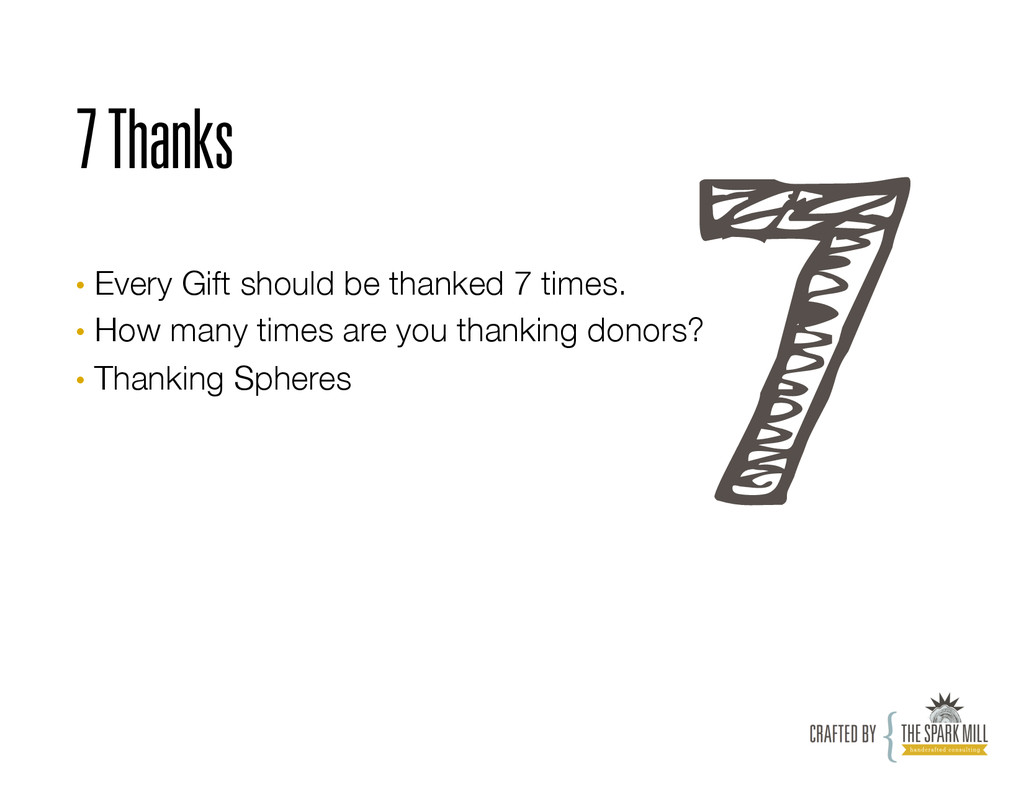 7 Thanks • Every Gift should be thanked 7 time...
