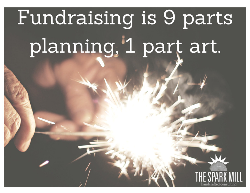 Fundraising is 9 parts planning, 1 part art.