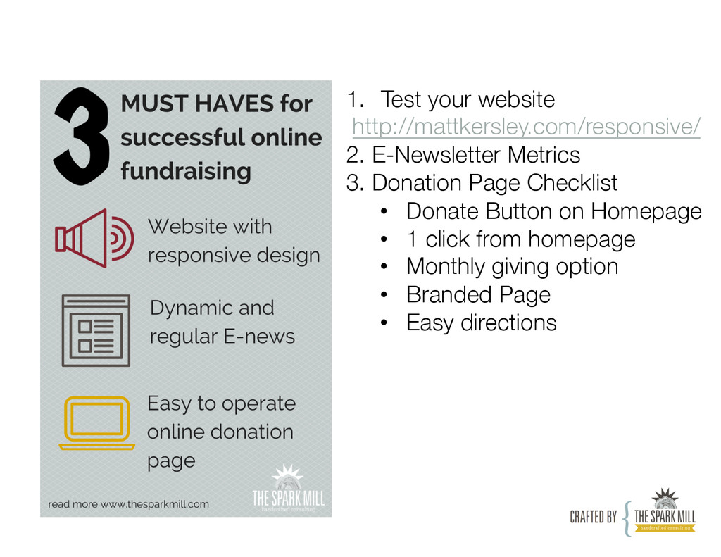 1. Test your website http://mattkersley.com/r...