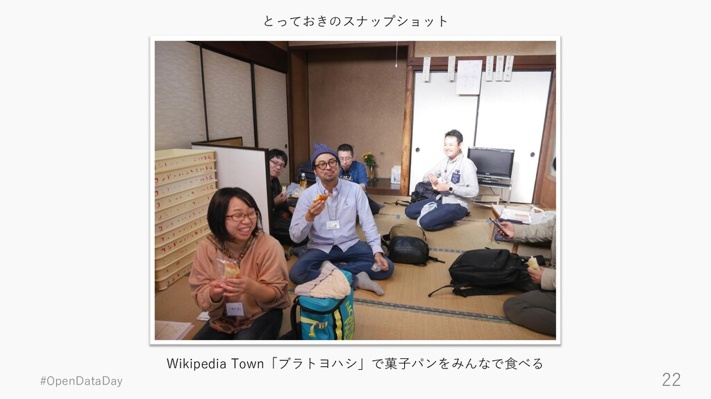 #OpenDataDay 22 Wikipedia Town「ブラトヨハシ」で菓子パンをみんな...