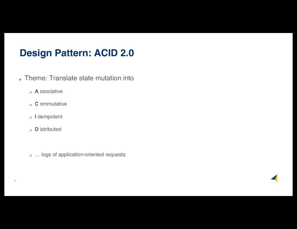 57 Design Pattern: ACID 2.0 Theme: Translate st...