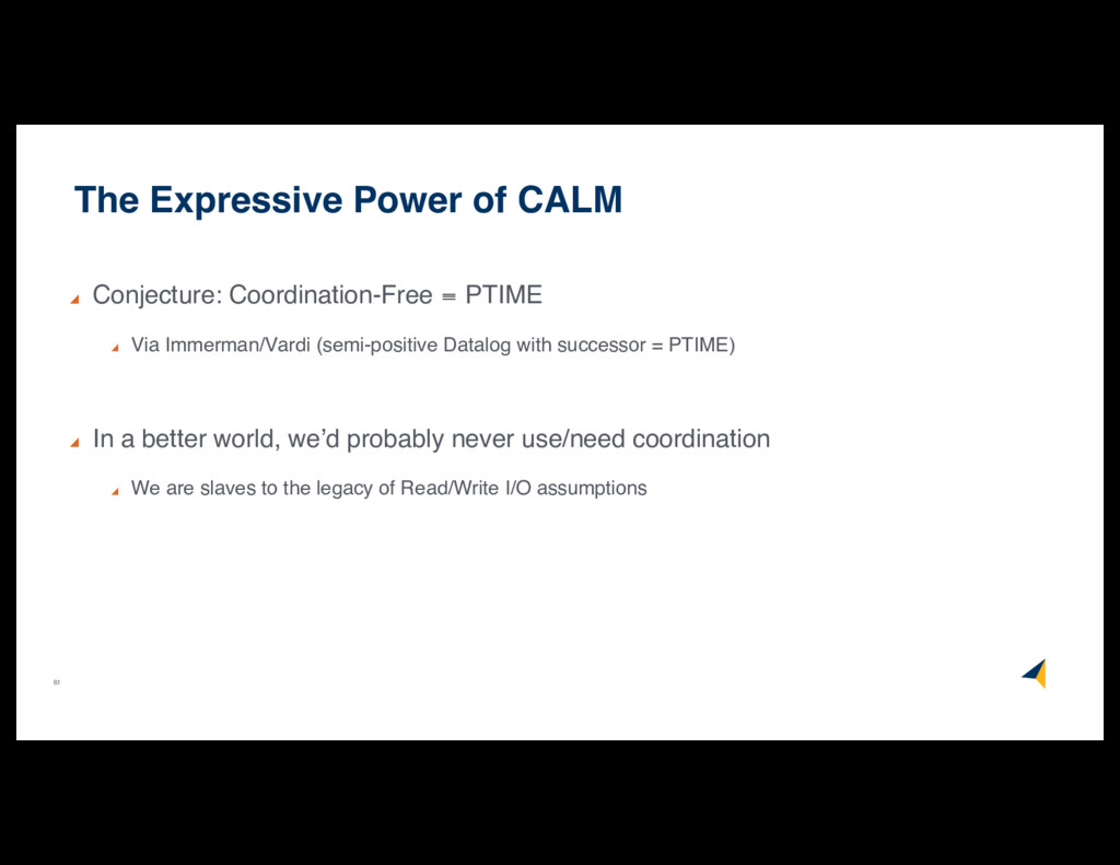 61 The Expressive Power of CALM Conjecture: Coo...