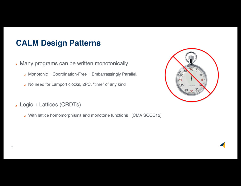 62 CALM Design Patterns Many programs can be wr...