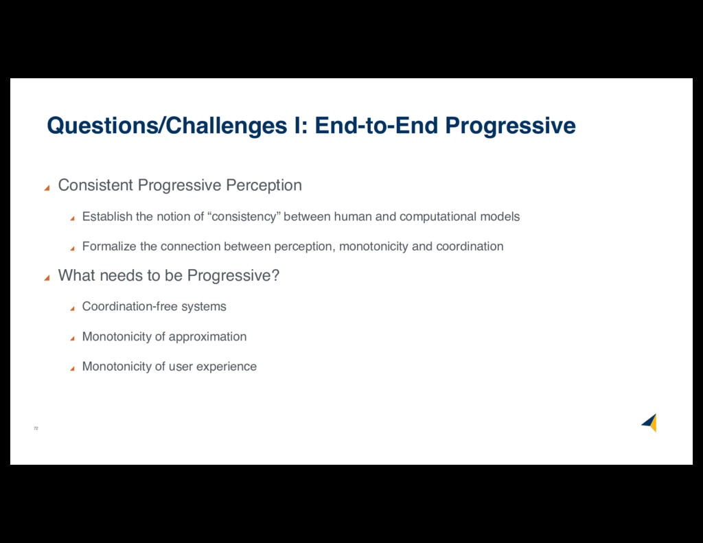 72 Questions/Challenges I: End-to-End Progressi...