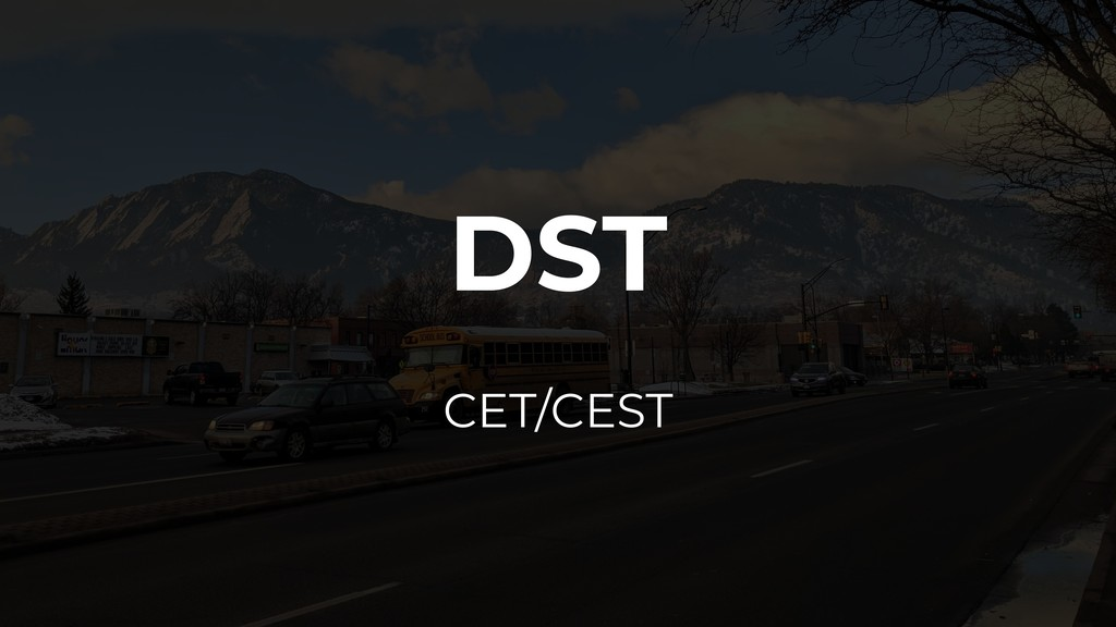 DST CET/CEST