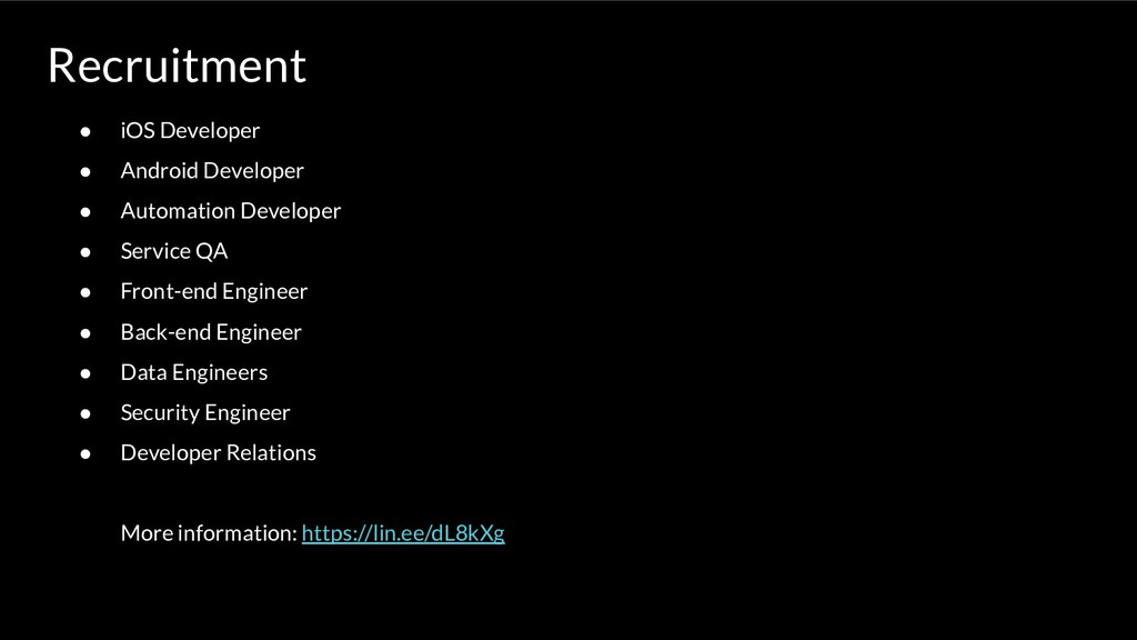 Recruitment ● iOS Developer ● Android Developer...