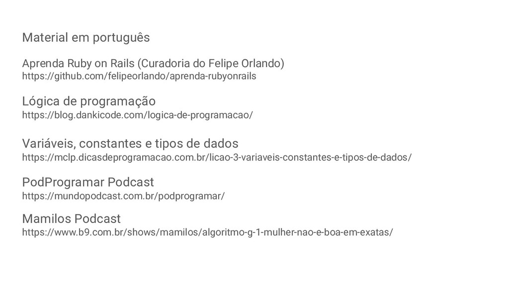 Material em português Aprenda Ruby on Rails (Cu...