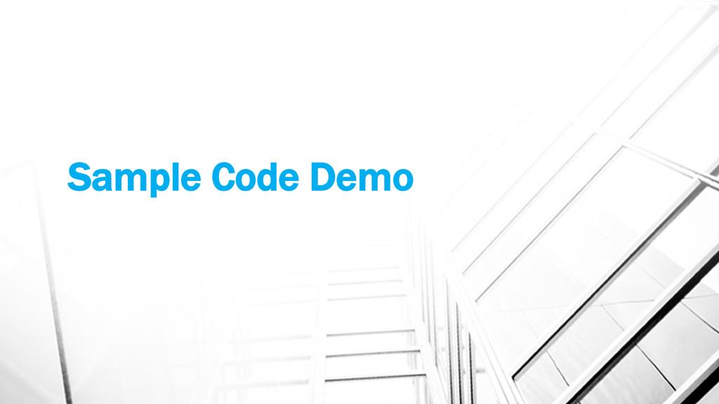 Sample Code Demo