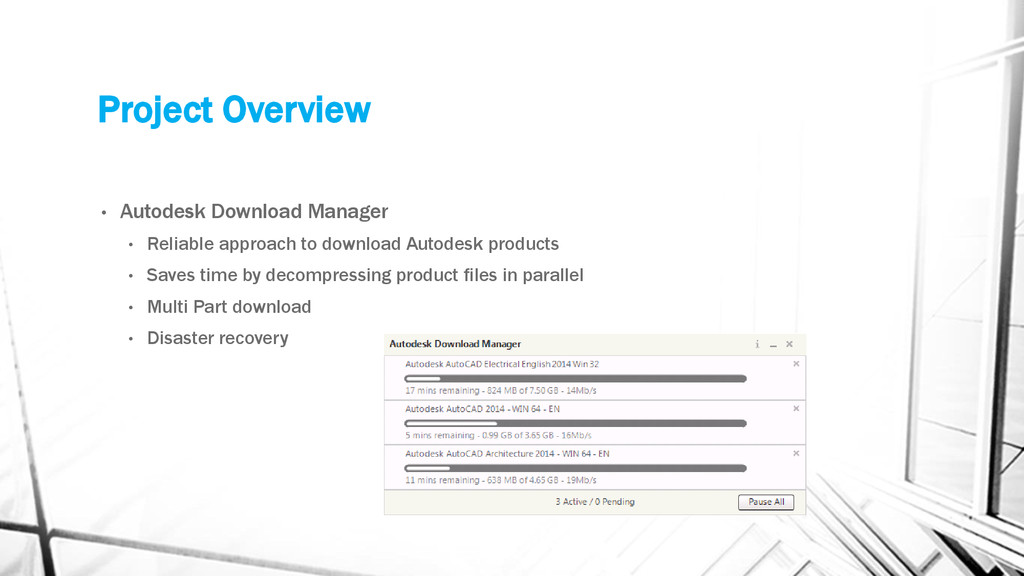 Project Overview • Autodesk Download Manager • ...