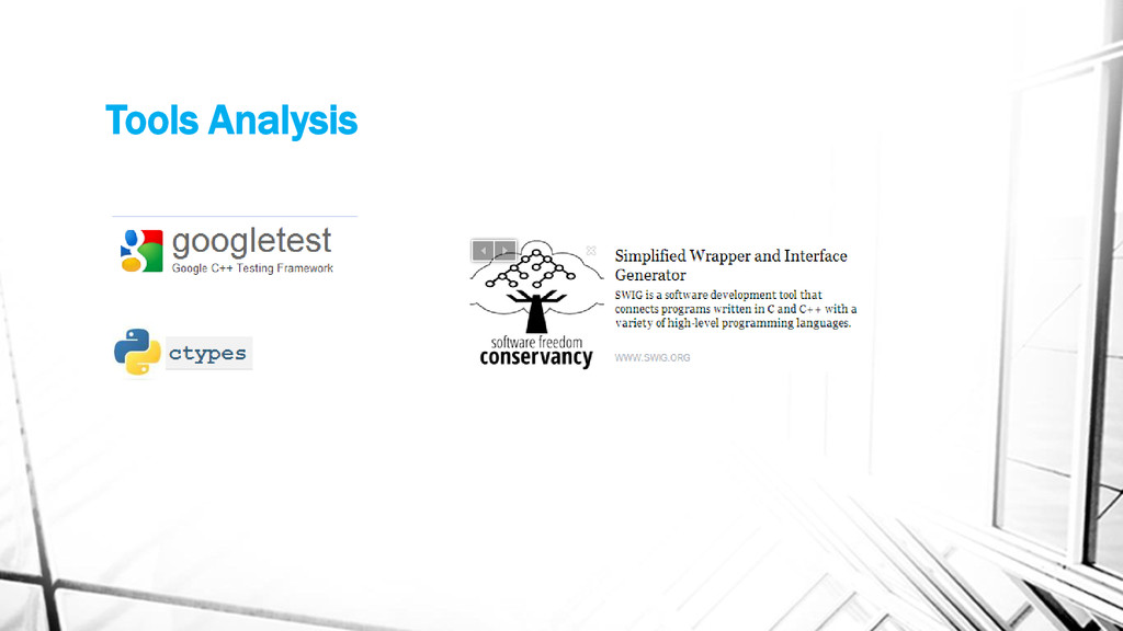 Tools Analysis