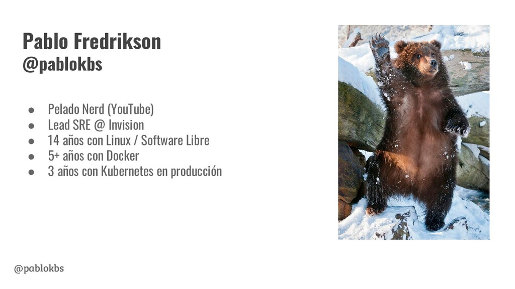 @pablokbs Pablo Fredrikson @pablokbs ● Pelado N...