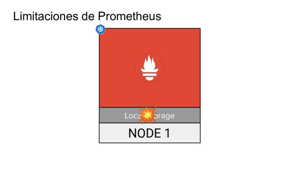 Limitaciones de Prometheus