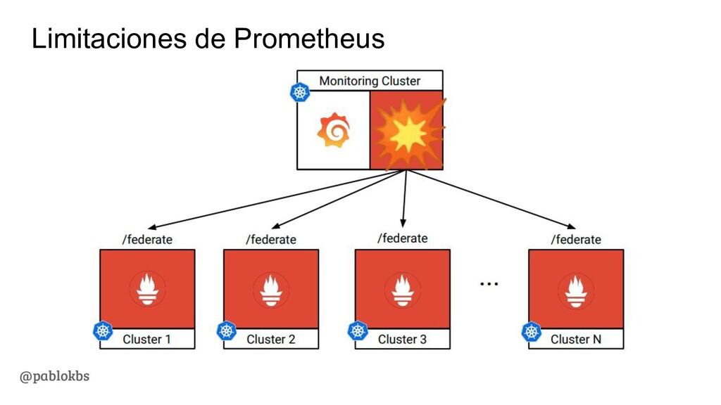 @pablokbs Limitaciones de Prometheus