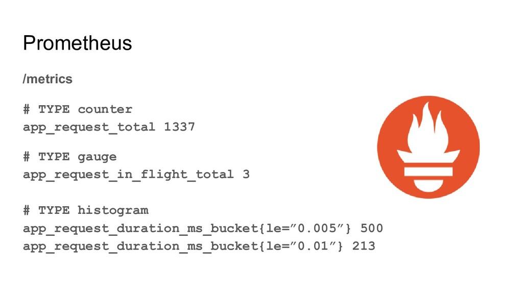 Prometheus /metrics # TYPE counter app_request_...