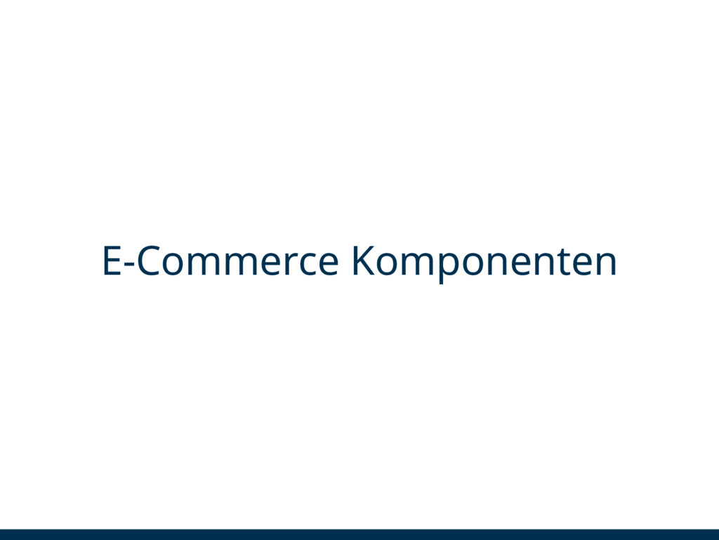 E-Commerce Komponenten