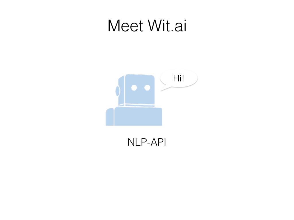 Meet Wit.ai Hi! NLP-API
