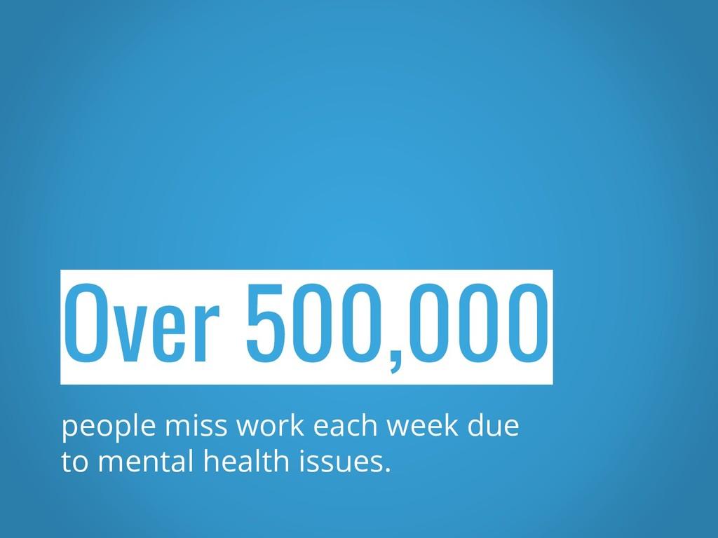 Over 500,000 people miss work each week due to ...