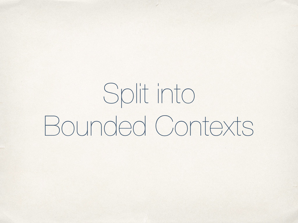 Split into Bounded Contexts