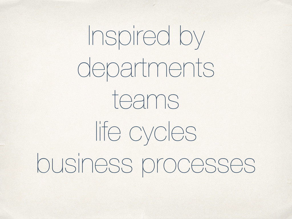 Inspired by departments teams life cycles busin...