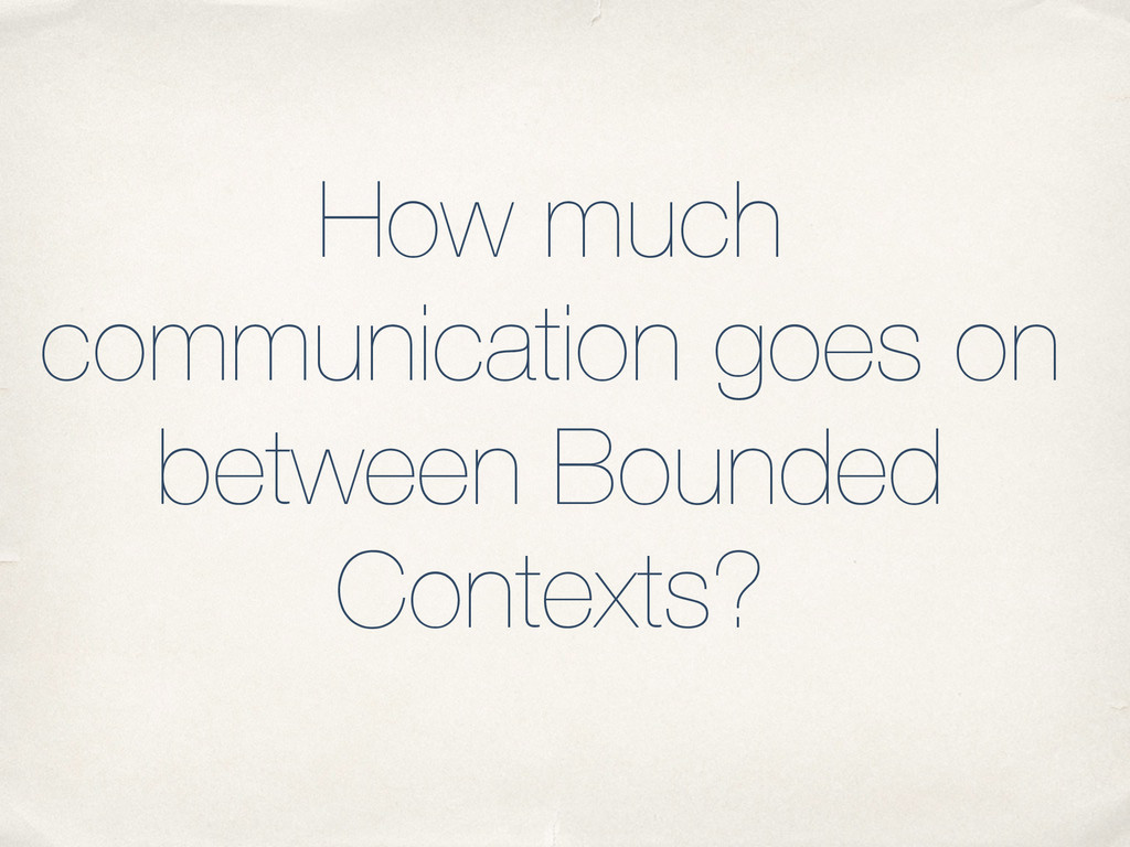How much communication goes on between Bounded ...