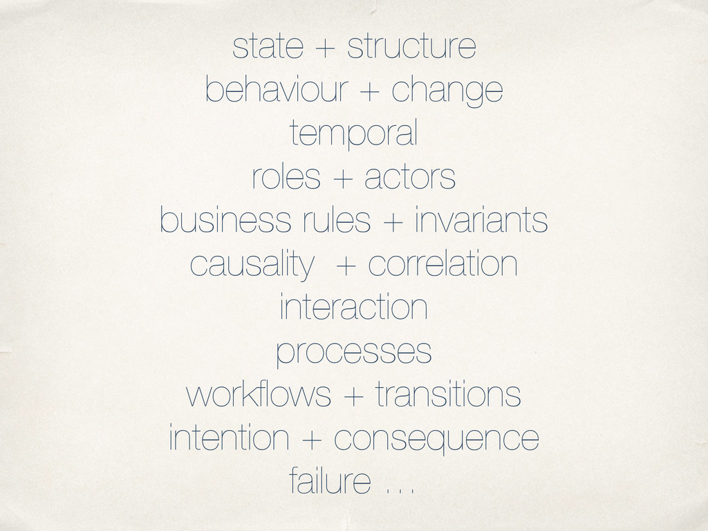 state + structure behaviour + change temporal r...