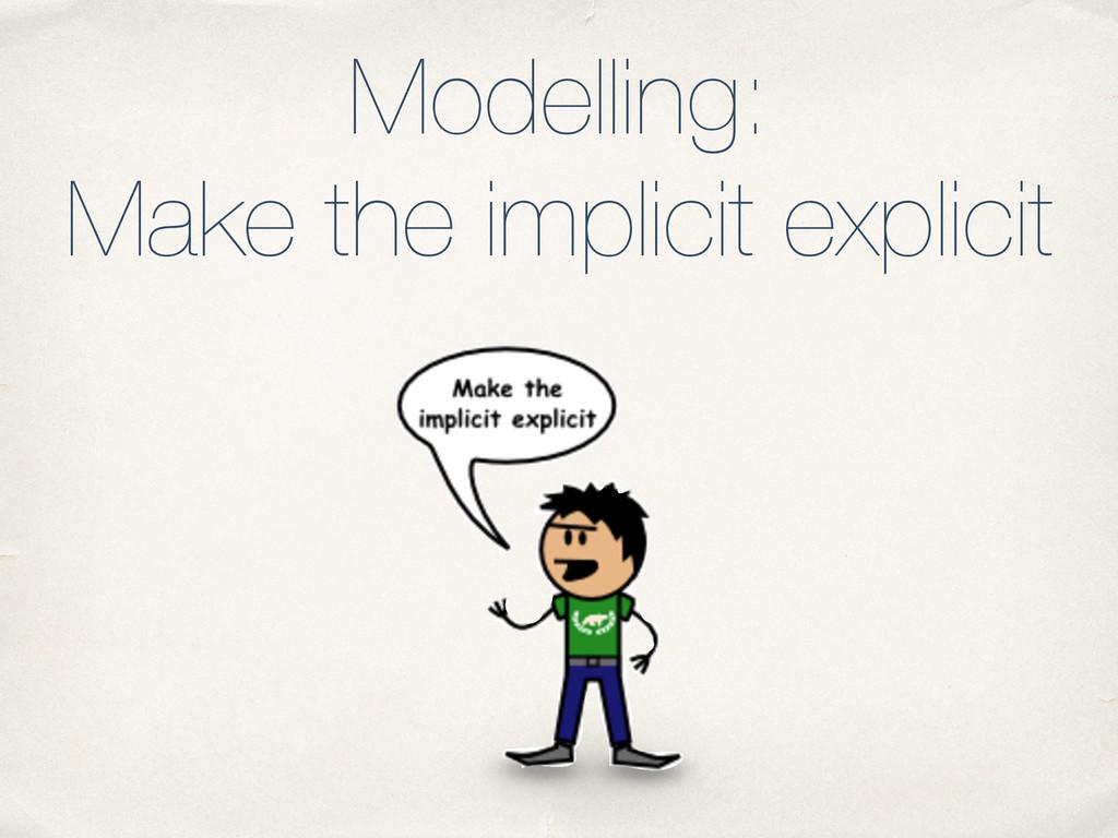 Modelling: Make the implicit explicit