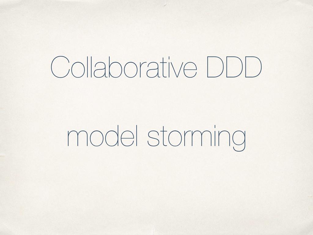 Collaborative DDD ! model storming