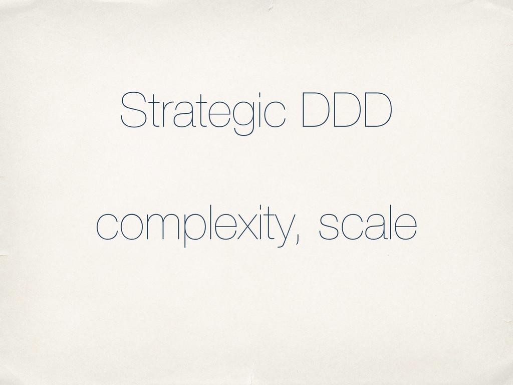 Strategic DDD ! complexity, scale