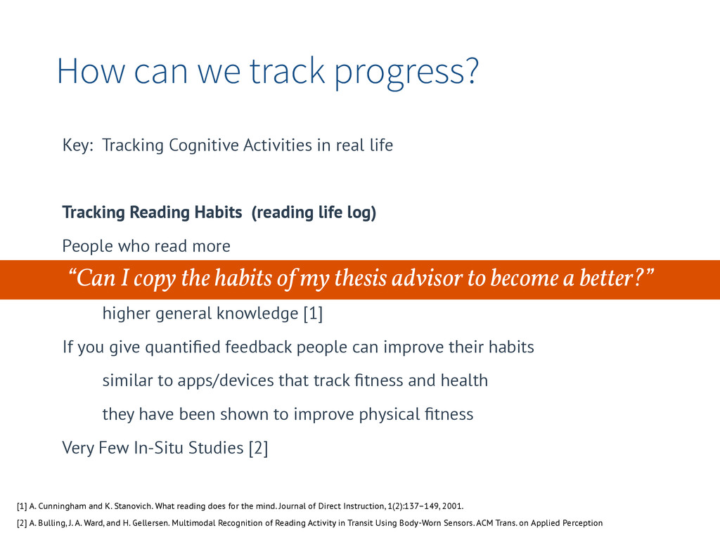 How can we track progress? Key: Tracking Cognit...