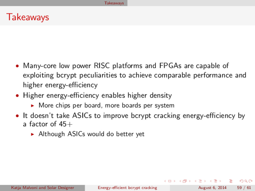 Takeaways Takeaways • Many-core low power RISC ...