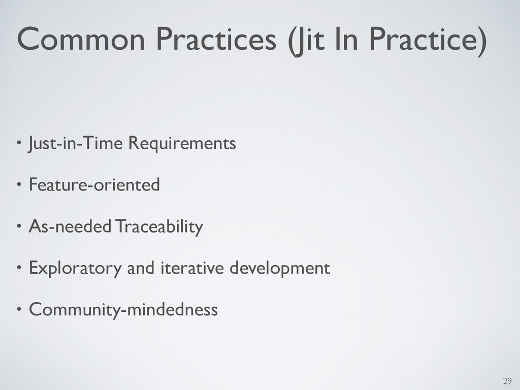 Common Practices (Jit In Practice) • Just-in-Ti...