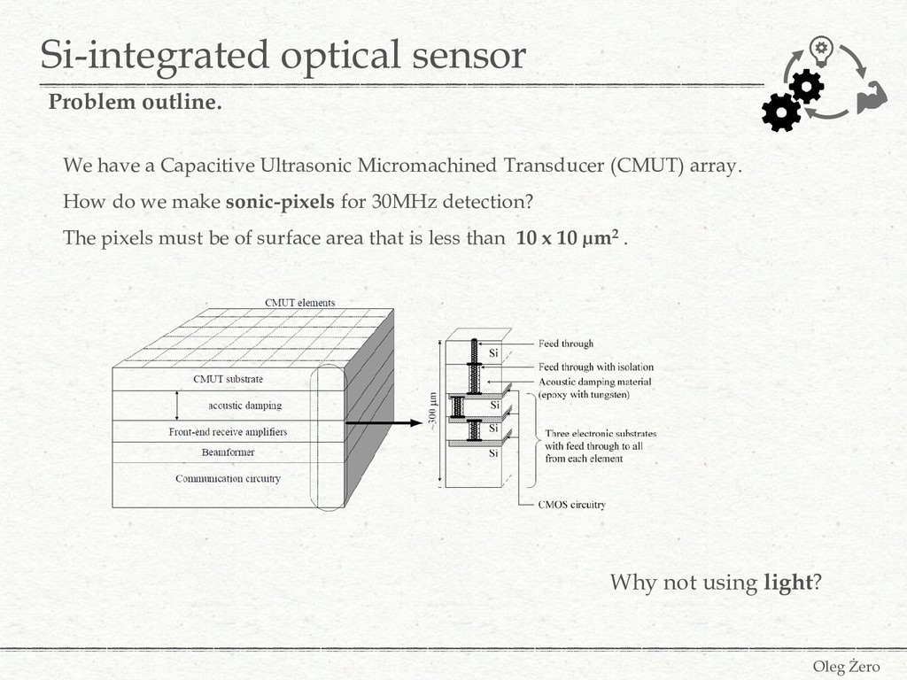 We have a Capacitive Ultrasonic Micromachined T...