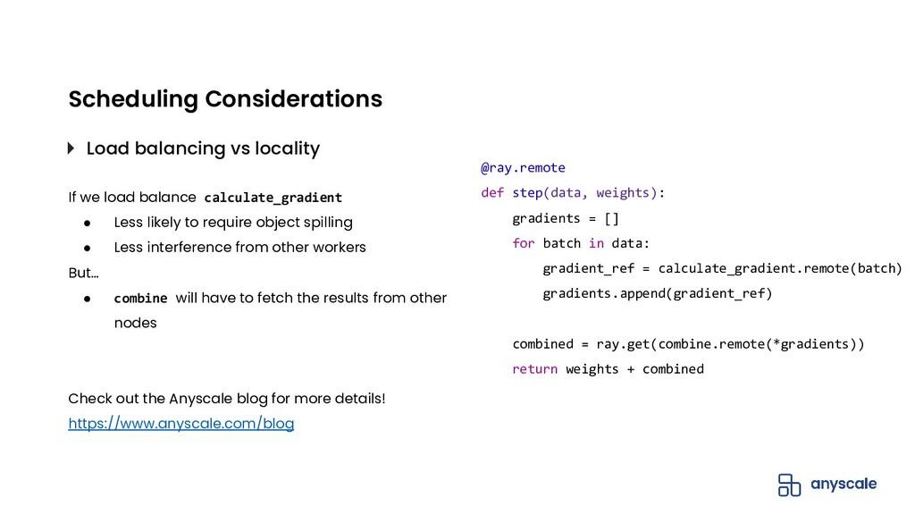 If we load balance calculate_gradient ● Less li...