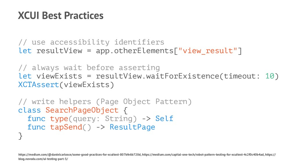 XCUI Best Practices // use accessibility identi...
