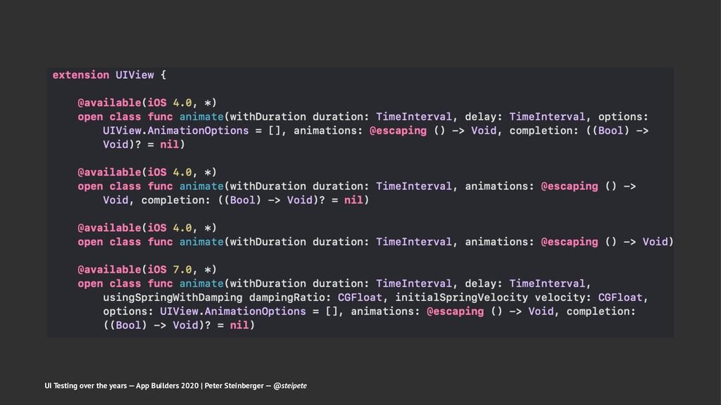 UI Testing over the years — App Builders 2020 |...