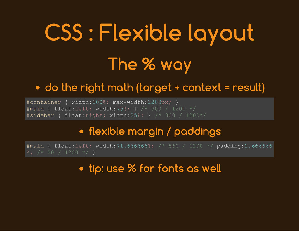 CSS : Flexible layout The % way do the right ma...