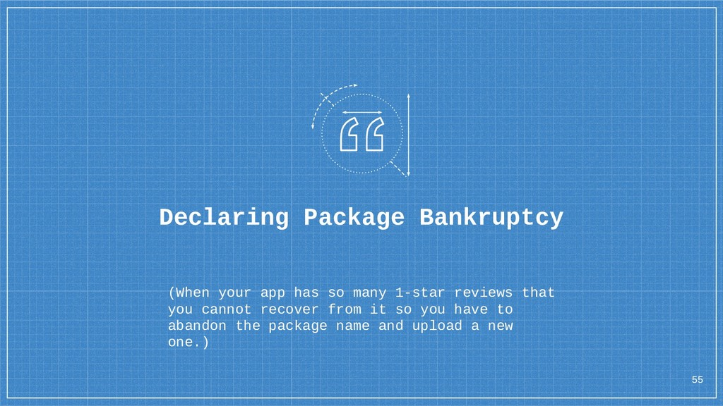 55 Declaring Package Bankruptcy (When your app ...