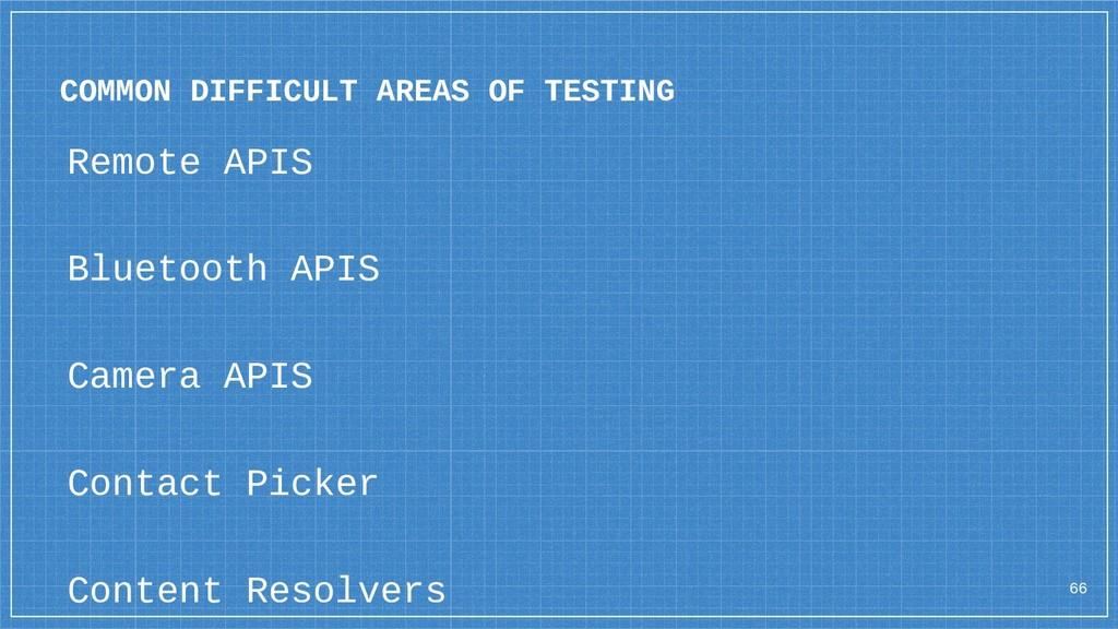 Remote APIS Bluetooth APIS Camera APIS Contact ...
